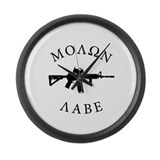Molon Labe Large Wall Clock