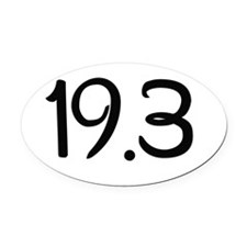 19.3 Oval Car Magnet