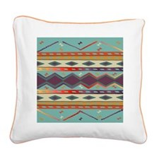 Southwest Indian Blanket Design Square Canvas Pill