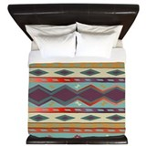 Southwest Indian Blanket Design King Duvet