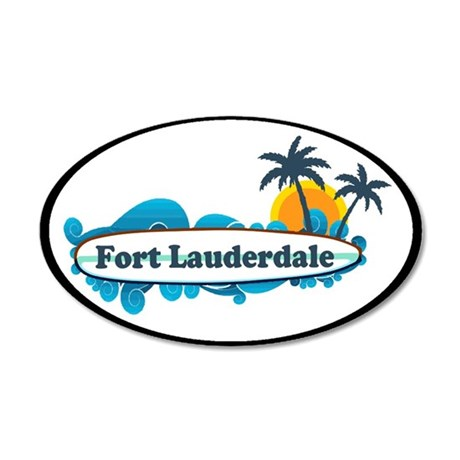 Fort Lauderdale - Surf Design. 35x21 Oval Wall Dec