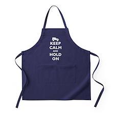 Keep Calm and Hold On Apron (dark)