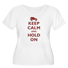 Keep Calm and Hold On Plus Size T-Shirt