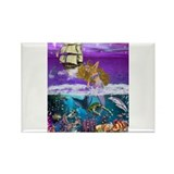 Best Seller Merrow Mermaid Rectangle Magnet (10 pa