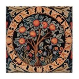 Orange Tree of Life Tile Coaster