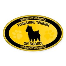 Yorkie On Board 2 Decal