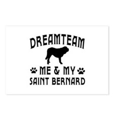 Saint Bernard Dog Designs Postcards (Package of 8)