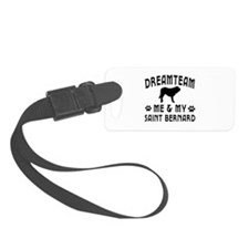 Saint Bernard Dog Designs Luggage Tag