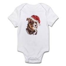 Christmas Border Collie Infant Bodysuit