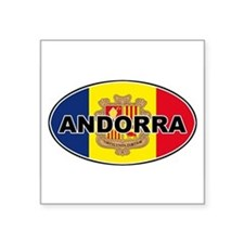 Andorran Oval Flag Oval Sticker