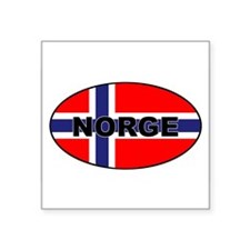 Norway (NOR) Flag Oval Sticker