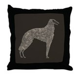 Borzoi Silhouett Throw Pillow