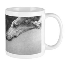 Three Heads Borzoi Mug