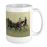 Large Carriage Ride Borzoi Mug