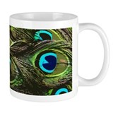 Art Deco Peacock Small Mug