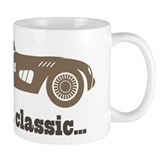 70th Birthday Classic Car Small Mugs