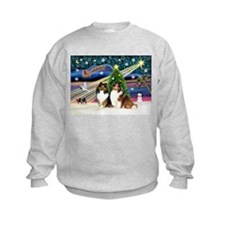 Xmas Magic-2 Shelties Sweatshirt