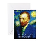 Van Gogh Paint My Dream Greeting Cards (Pk of 10)