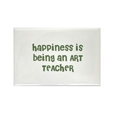 Happiness is being an ART TEA Rectangle Magnet