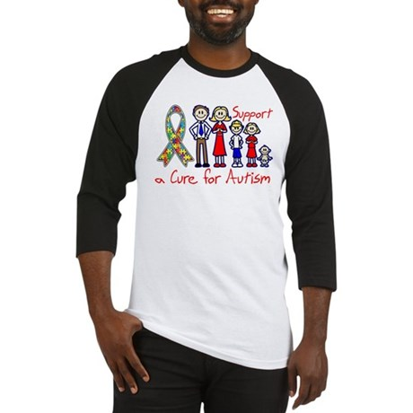 Autism Family Support A Cure Baseball Jersey