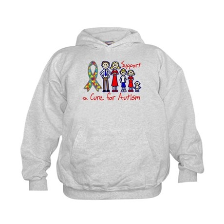 Autism Family Support A Cure Kids Hoodie