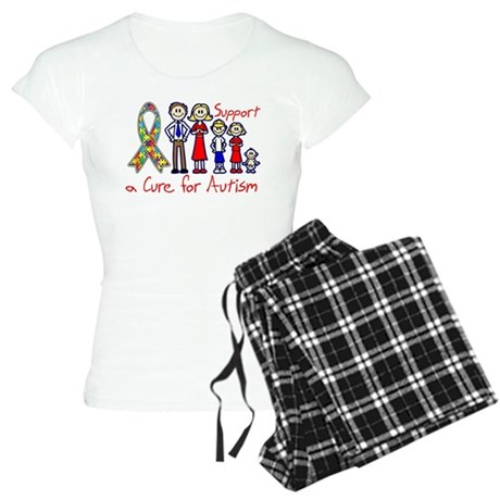 Autism Family Support A Cure Women's Light Pajamas