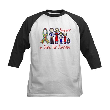 Autism Family Support A Cure Kids Baseball Jersey