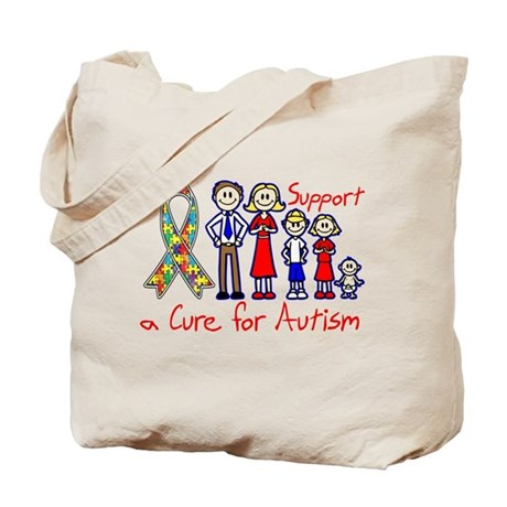 Autism Family Support A Cure Tote Bag