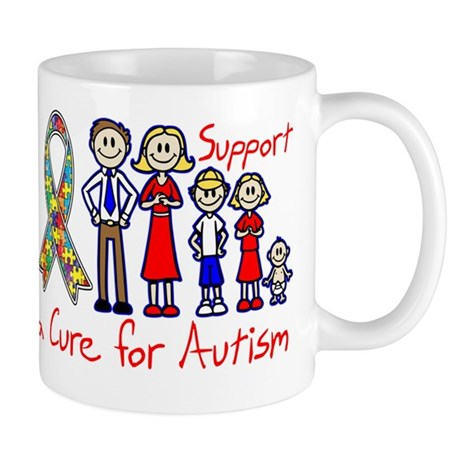 Autism Family Support A Cure Mug