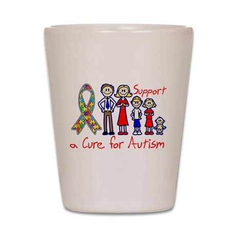 Autism Family Support A Cure Shot Glass