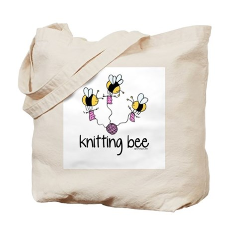 Knitting Bee Tote Bag