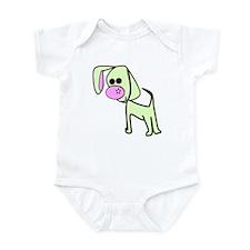 Green cute puppy Infant Bodysuit