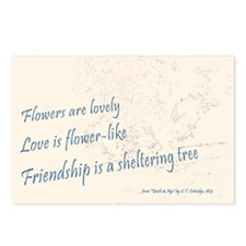 Postcards (Pack of 8), Coleridge poem friendship