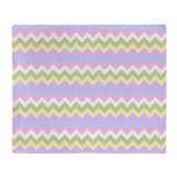 Cute Chevron Zigzag Pastels Pattern Throw Blanket