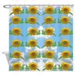 Sunflower sky Shower Curtain