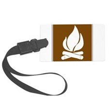 Campfire Luggage Tag
