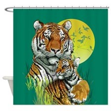 Tiger with Cub Shower Curtain