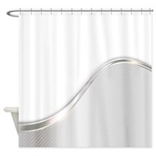 Light Metallic Abstract Shower Curtain