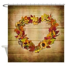 Thanksgiving Heart Shower Curtain