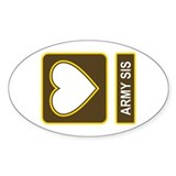 Army Sis Logo Oval Decal