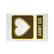Army Sis Logo Rectangle Magnet