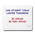 Be Afraid of Law Students Mousepad