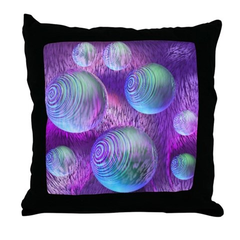 Inner Flow II Purple Abstract Throw Pillow