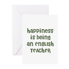 Happiness is being an ENGLISH Greeting Cards (Pack