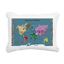 World Map For Kids With Rectangular Canvas Pillow