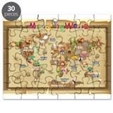 World Map For Kids - Earth Tones Puzzle