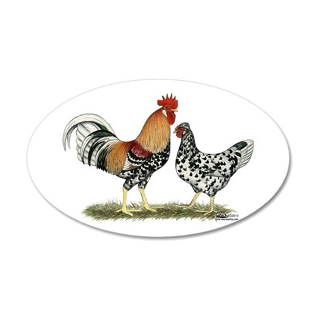 Icelandic Chickens Wall Decal