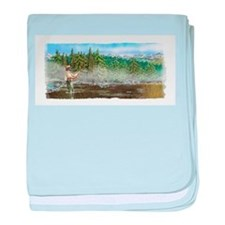 Fly Fishing Hiatus baby blanket