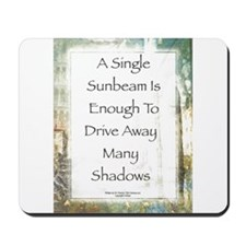 La Piazza Sunbeam Prayer by St. Francis Mousepad