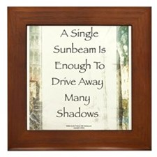 La Piazza Sunbeam Prayer by St. Francis Framed Til